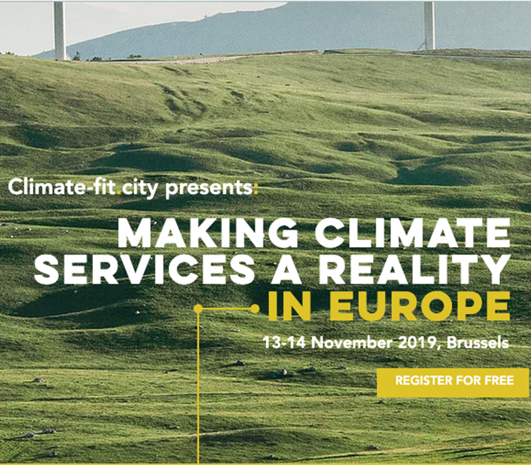 «MAKING CLIMATE SERVICES A REALITY IN EUROPE» – the Climate-fit.city conference